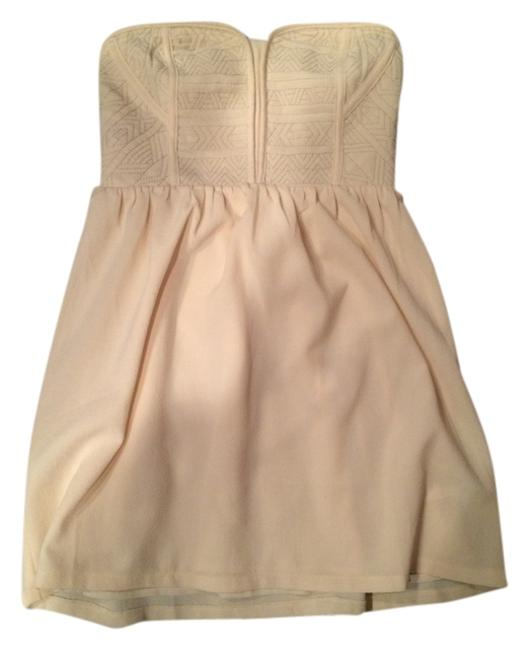 Kimchi Blue short dress Cream on Tradesy