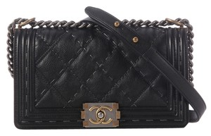 Chanel Boy Leather Cross Body Bag