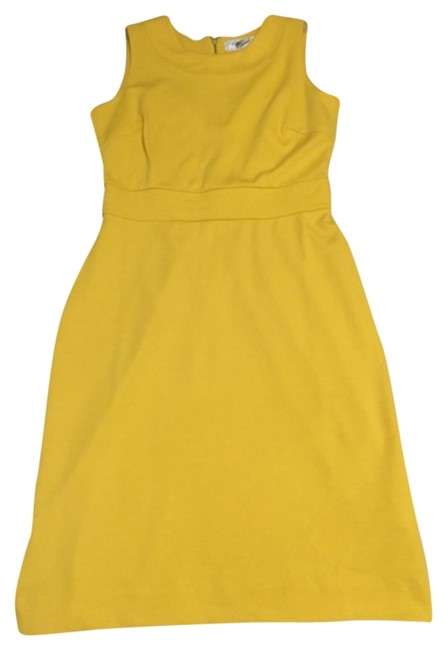 Yellow Knee Length Short Casual Dress Size 4 (S) Yellow Knee Length Short Casual Dress Size 4 (S) Image 1