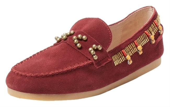 House of Harlow 1960 Bordeaux Wine Maroon Shayla Beaded Moccasin Flats Size US 7.5 Regular (M, B) House of Harlow 1960 Bordeaux Wine Maroon Shayla Beaded Moccasin Flats Size US 7.5 Regular (M, B) Image 1
