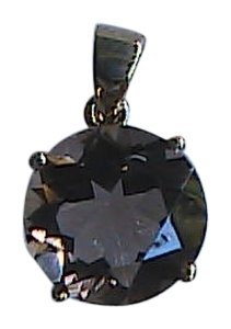 Unknown 4.0 cts 10k Solid Yellow Gold Genuine Smokey Topaz Pendant (#2)