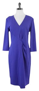 Escada Periwinkle Long Sleeve Dress