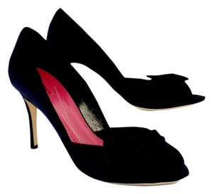 Kate Spade Black Satin Bow Heels Bow Pumps