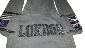 PINK Victoria Secret Bling Sequin Silver Sweatshirt
