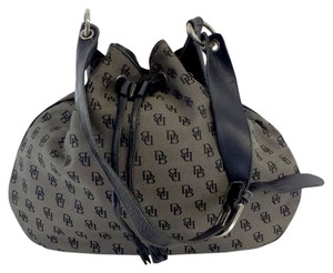 Dooney & Bourke Brown Black Monogram Tote