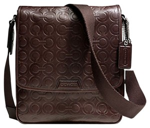 Coach Embossed Op Art Bleecker Cross Body Bag