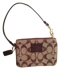 Coach Wristlet in Brown Monogram