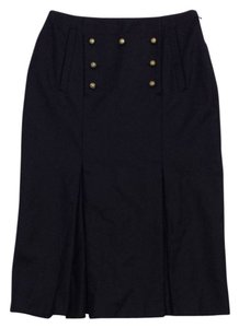 Alexander McQueen Black Wool Skirt