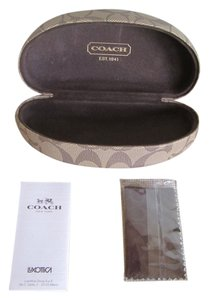 Coach WOMENS COACH GLASSES CASE WITH COACH LENS CLEANER AND PAPERWORK