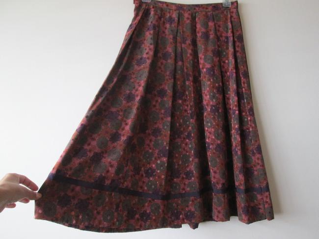 Workers Union Vintage Boho Length Peasant Floral Skirt mauve