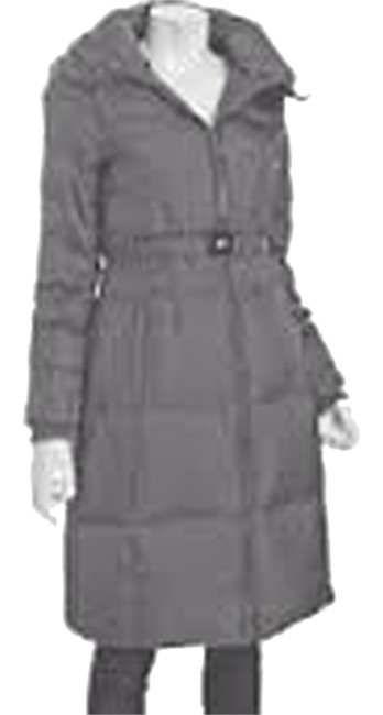 Item - Gunmetal Grey Down Quilted Puffer Coat Size 6 (S)