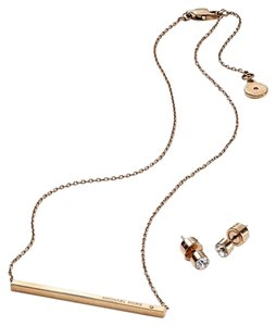 Michael Kors Michael Kors Necklace and Stud Earrings Set
