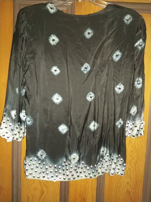 Moyna Top black with silver beads Image 1