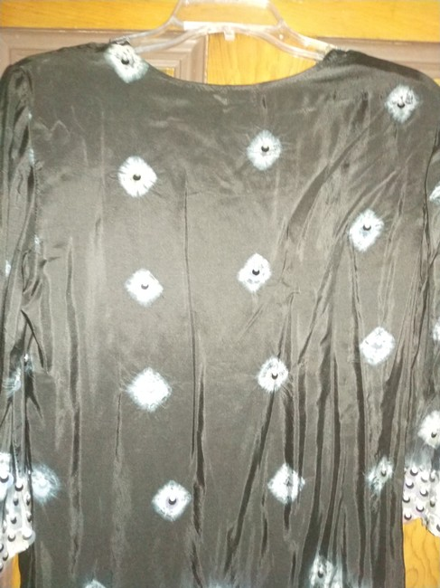 Moyna Top black with silver beads Image 2