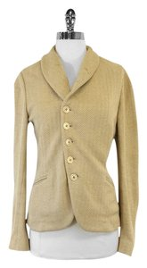 Ralph Lauren Gold Textured Linen Jacket