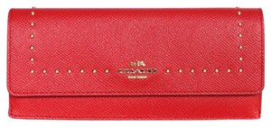 Coach 52772 CROSSGRIAN LEATHER EDGE STUDS SOFT WALLET