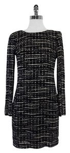 Walter Baker short dress Black Grey Velvet Square on Tradesy