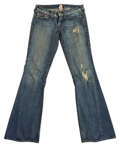 True Religion Flare Relaxed Fit Jeans-Distressed
