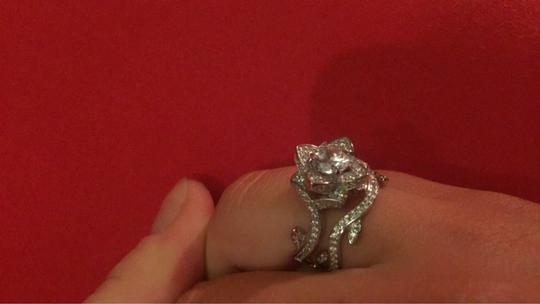 Other beautiful cubic zirconia flower ring and band Image 5