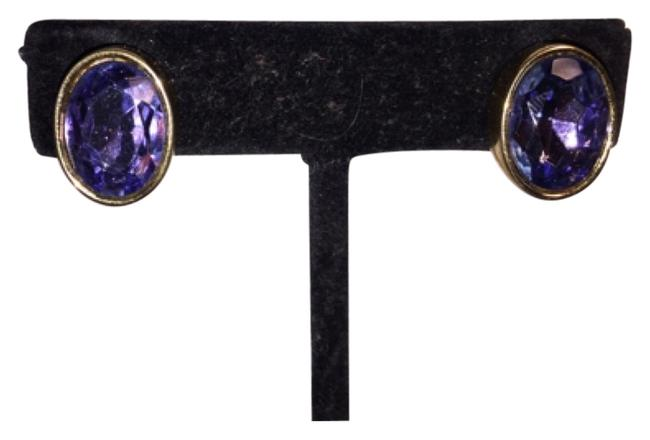 Givenchy Faceted Oval Amethyst Clip Backs Earrings Givenchy Faceted Oval Amethyst Clip Backs Earrings Image 1