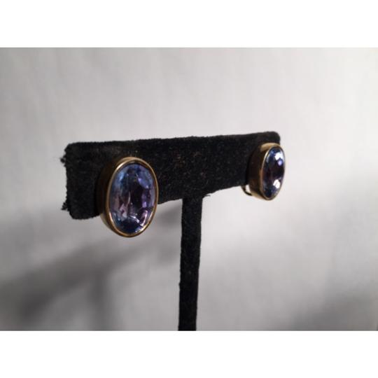 Givenchy Faceted Oval AMETHYST clip backs Image 2