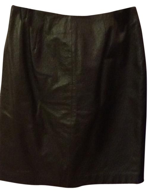 Lord & Taylor Leather Skirt Black