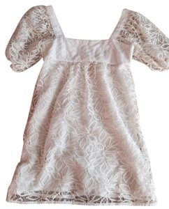 BCBG short dress White/Cream Mini Lace Classic Cocktail on Tradesy