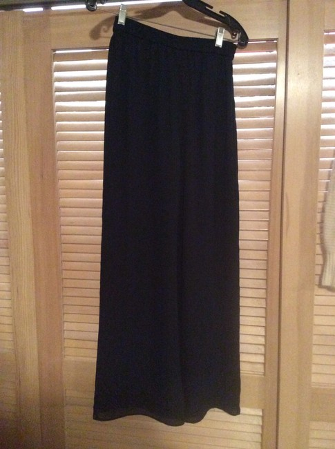 Talbots Flowing Wide Leg Pants Black Image 2