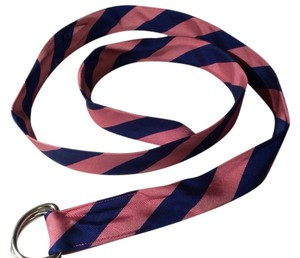 J.Crew Striped Silk Repp Belt