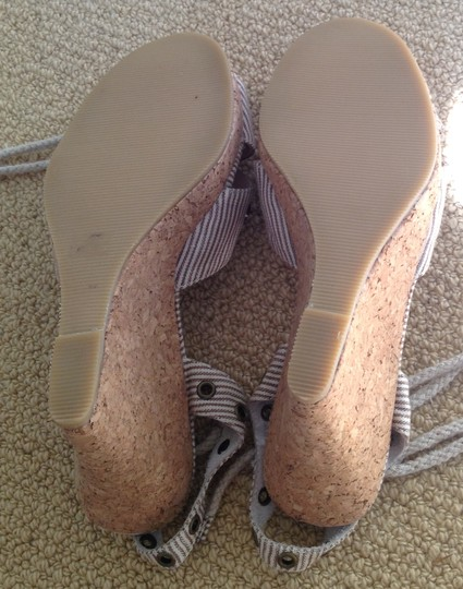 Rebecca Taylor Beige/Tan Stripe Wedges