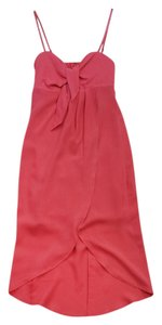 Plenty by Tracy Reese Sarong Coral Silk Dress