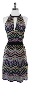 Missoni short dress Multi Color Zigzag Print on Tradesy
