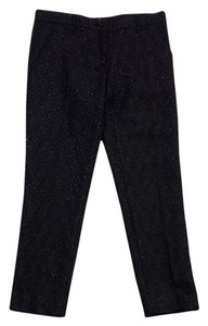Miu Miu Black Cotton Blend Brocade Pants