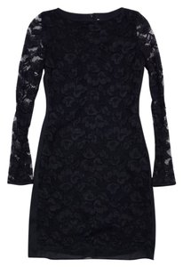 Diane von Furstenberg short dress Black Lace Long Sleeve on Tradesy