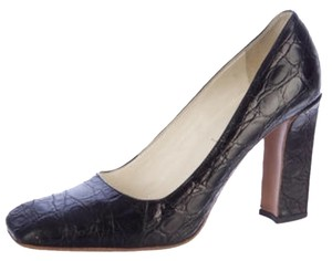 Prada Heels Alligator Black Pumps