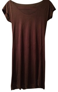 Imports short dress Brown New on Tradesy
