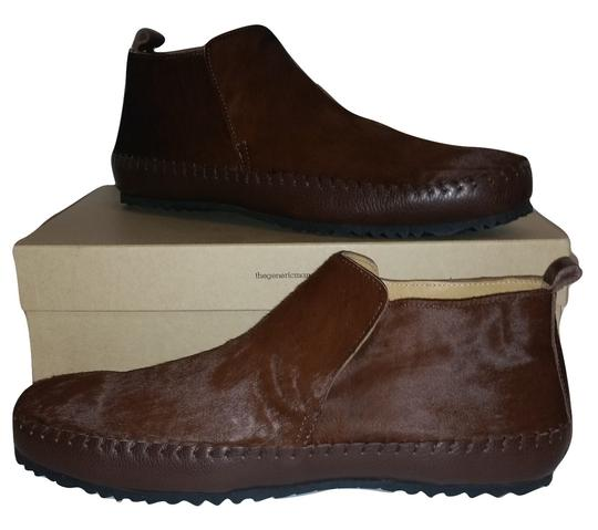 The Generic Man Ships In 24 Hours Genuine Calf Hair Amazing Condition Cognac Brown Boots Image 1
