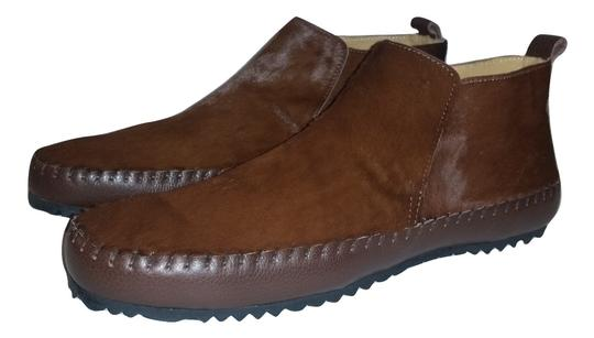 The Generic Man Ships In 24 Hours Genuine Calf Hair Amazing Condition Cognac Brown Boots Image 2