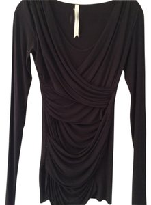 Bailey 44 New Wrap Detail Top Black