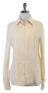 Loro Piana Charlize Cream Silk Top