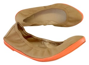 Loeffler Randall Tan Orange Leather Flats