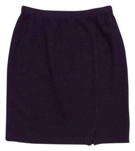 St. John Plum Wool Knit Skirt