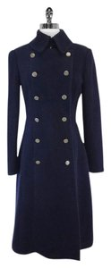 Elie Tahari Navy Wool Coat