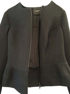 Narciso Rodriguez Jacket Coat Wool Peplum Wool Jacket Black Blazer
