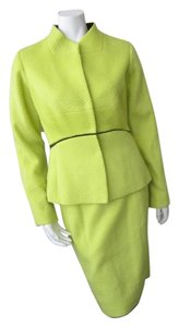 Narciso Rodriguez Narcisco Rodriguez Chartreuse 2 Pc. Wool/Silk Blend Suit-Never Been Worn-Size 44