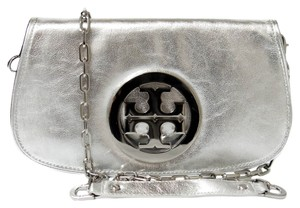 Tory Burch Logo - Clutch - Clutch Handbag 50009805 Logo Metallic Leather Cross Body Bag