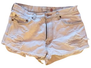 Urban Outfitters Cut Off Shorts White