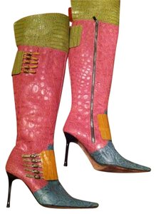 Cesare Paciotti Thigh-high Color-blocked Multi Boots