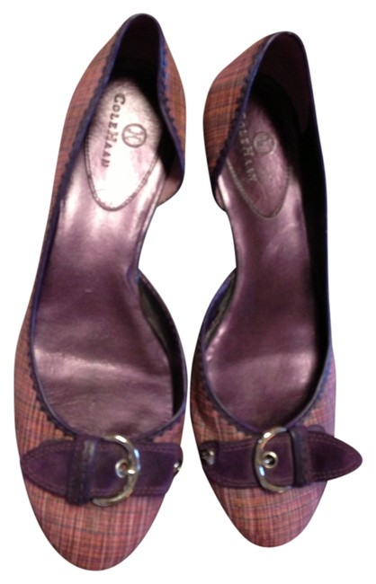 Cole Haan Pink Classic Plaid Purple Accents Kitten Heel Flats Size US 7.5 Regular (M, B) Cole Haan Pink Classic Plaid Purple Accents Kitten Heel Flats Size US 7.5 Regular (M, B) Image 1