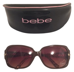 bebe Brown and Leopard Comedian Square Eye Sunglasses